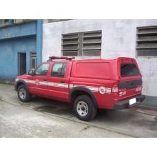 CAPOTA ALTURA DA CABINE GM S10 CABINE DUPLA - S/ VIDROS NAS LATERAIS